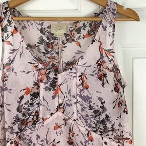 Vanessa Virginia Garden Pop Hanky Hem Top Small